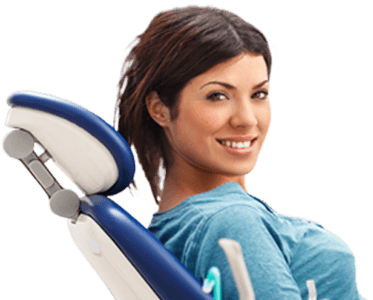 girl smiling from dental chair